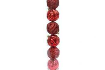 - 6'lı Çam Ağacı Süsü Kırmızı (1)