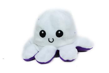 Just me - Ahtapot Polar Peluş Mood Değiştiren Beyaz/Mor 12 cm