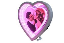 Self Design - Ayna Led li Çerçeve Kalp 2 Işıklı