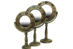 MNK - Ayna Stand'lı Anitk Berfi Desen'li 3'lü Set