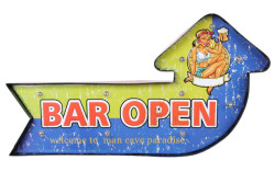 Mnk - Bar Open Temalı Ledli Bar Tabelası
