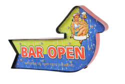 Mnk - Bar Open Temalı Ledli Bar Tabelası (1)