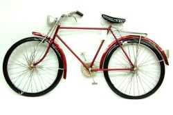 Mnk - Bisiklet Pano Kırmızı