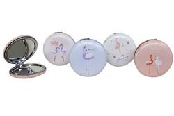 Self Design - Cep Aynası Yuvarlak Tombul Flamingo