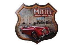 MNK - Dekoratif 3D Motel &Kırmızı Chevrolet Temalı Duvar Panosu