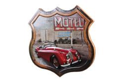 Mnk - Dekoratif 3D Motel &Kırmızı Chevrolet Temalı Duvar Panosu (1)