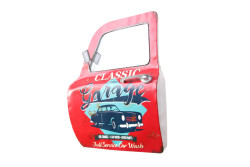 MNK - Dekoratif Classic Garage Temalı Kırmızı Araba Kapısı Ayna (1)