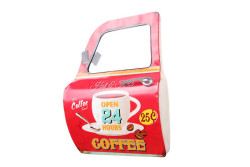 Mnk - Dekoratif Coffee Temalı Kırmızı Araba Kapısı Ayna (1)