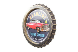 MNK - Dekoratif Kapak Modeli Gasoline& Chevrolet Temalı Led Işıklı lı Duvar Panosu (1)