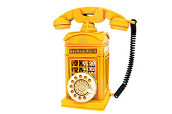 Mnk - Dekoratif Metal Ahizeli Telefon Kumbara