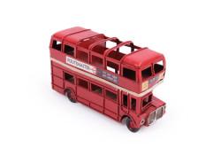 Mnk - Dekoratif Metal Araba Londra Şehir Otobüsü Kalemlik