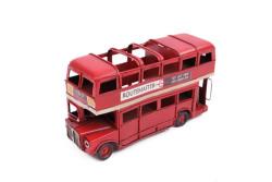 Mnk - Dekoratif Metal Araba Londra Şehir Otobüsü Kalemlik (1)