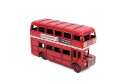MNK - Dekoratif Metal Araba Londra Şehir Otobüsü