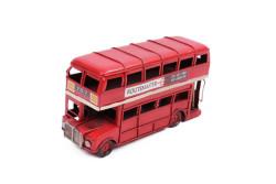 Mnk - Dekoratif Metal Araba Londra Şehir Otobüsü (1)