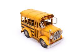 MNK - Dekoratif Metal Araba Okul Otobüsü