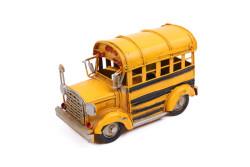 Mnk - Dekoratif Metal Araba Okul Otobüsü (1)