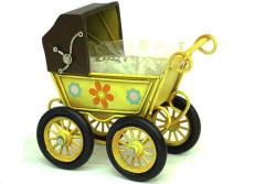 MNK - Dekoratif Metal Bebek Arabası