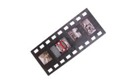 Mnk - Dekoratif Metal Çerçeve Film Şeridi Temalı Dörtlü (1)