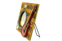 Mnk - Dekoratif Metal Çerçeve Gitar Dekorlu (1)