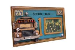 Mnk - Dekoratif Metal Çerçeve Okul Otobüsü Dekorlu (1)