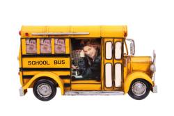 MNK - Dekoratif Metal Çerçeve Okul Otobüsü Temalı