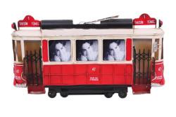 MNK - Dekoratif Metal Çerçeve Tramvay Temalı