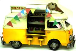 Mnk - Dekoratif Metal Dondurma Minibüsü (1)