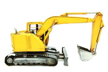 MNK - Dekoratif Metal Ekskavatör iş Makinesi (1)