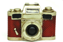 MNK - Dekoratif Metal Fotoğraf Makinesi