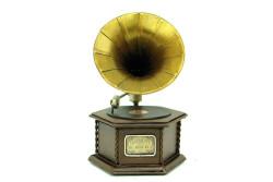 Mnk - Dekoratif Metal Gramofon Kutu