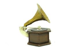 Mnk - Dekoratif Metal Gramofon Kutu (1)