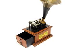 MNK - Dekoratif Metal Gramofon Kutu Çekmeceli (1)