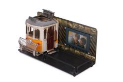 Mnk - Dekoratif Metal Kalemlik Çerçeveli Tramvay Temalı (1)