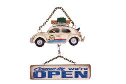 Mnk - Dekoratif Metal Kapı Yazısı Araba