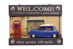 MNK - Dekoratif Metal Kapı Yazısı Araba ve Telefon Kulübesi Dekorlu
