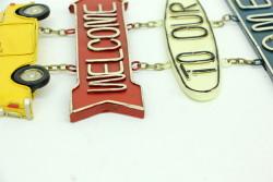 Mnk - Dekoratif Metal Kapı Yazısı Araba (1)