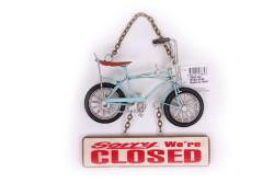 Mnk - Dekoratif Metal Kapı Yazısı Bisiklet (1)