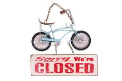 MNK - Dekoratif Metal Kapı Yazısı Bisiklet