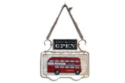 Mnk - Dekoratif Metal Kapı Yazısı Londra Şehir Otobüsü Dekorlu