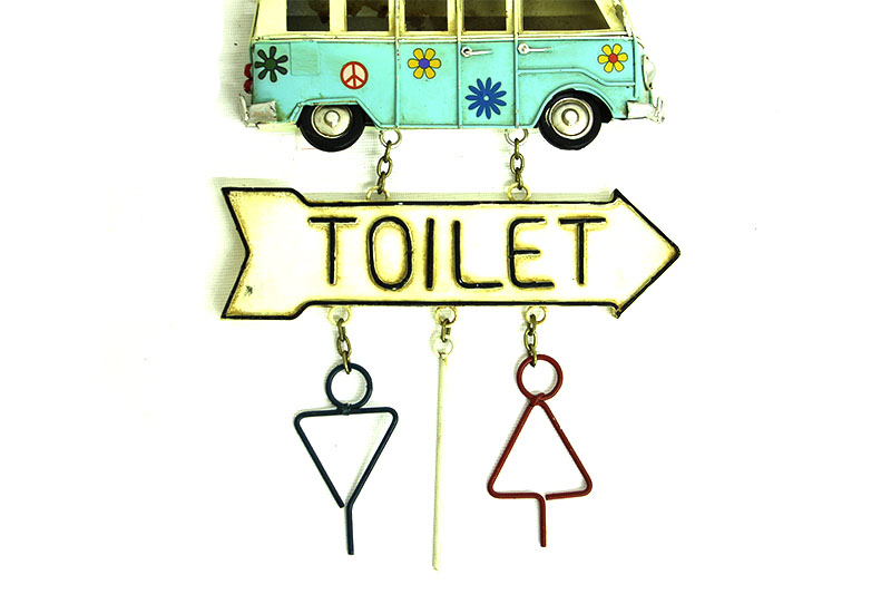 Dekoratif Metal Kapı Yazısı Minibüs