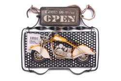 MNK - Dekoratif Metal Kapı Yazısı Motosiklet Dekorlu