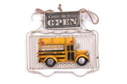 MNK - Dekoratif Metal Kapı Yazısı Okul Otobüsü Dekorlu