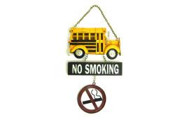 Mnk - Dekoratif Metal Kapı Yazısı Okul Otobüsü