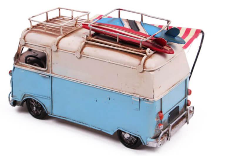 Dekoratif Metal Minibüs Çerçeveli, Kalemlik ve Tenteli