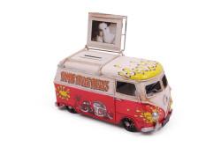 Mnk - Dekoratif Metal Minibüs Çerçeveli ve Kumbaralı (1)