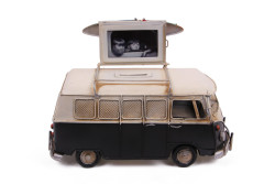Mnk - Dekoratif Metal Minibüs Çerçeveli ve Kumbaralı