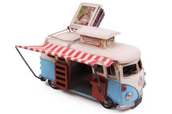 MNK - Dekoratif Metal Minibüs Çerçeveli ve Tenteli