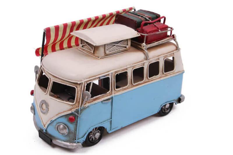 Dekoratif Metal Minibüs Çerçeveli ve Tenteli