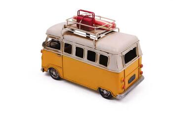Dekoratif Metal Minibüs Kalemlik ve Çerçeveli - Thumbnail