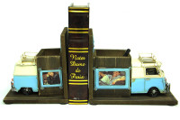 Mnk - Dekoratif Metal Minibüs Kitap Tutucu Kalemlik Çerçeve